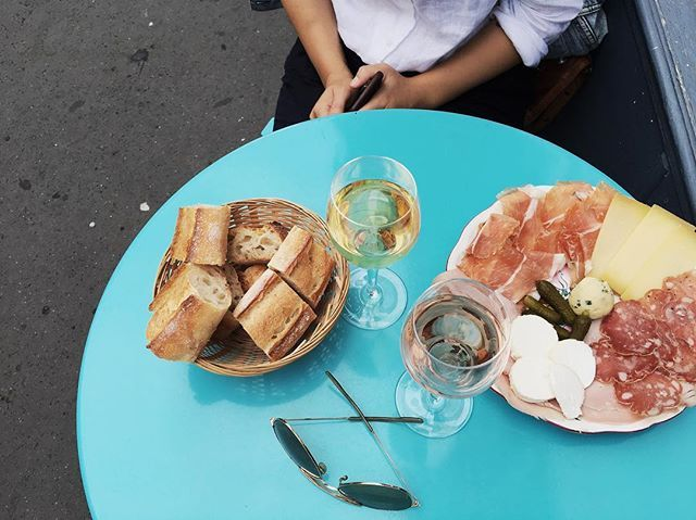 Cheese, charcuterie and rosé on a summer night