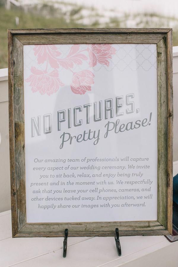 No Pictures, Pretty Please!  Unplugged Event Poster — Miss Pickles Press is part of Unplugged wedding - As seen in Southern Weddings Magazine, the  Pretty Please  poster lets your  wedding guestspolitelybe informed that you'd appreciate an unplugged  ceremony  Printed on thick, hearty cover weight paper  Colors are charcoal  grey and peony  We recommend a frame for a polished look  Please allow 2  weeks for printing and delivery  All sizes above 8x10 ship in mailing tube