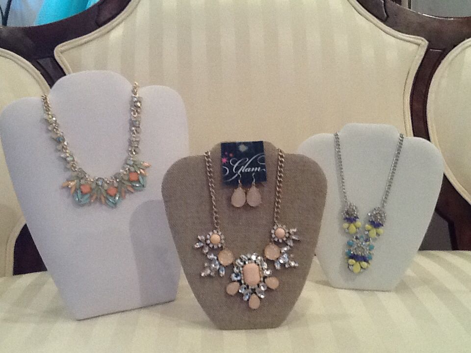 We're ready for spring and so are these statement necklaces at #glam #glambyhighmaintenance