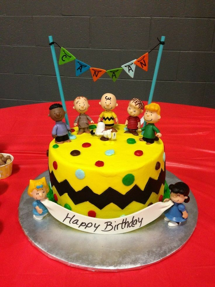 Happy Birthday Peanuts Cake Photo Peanuts Gang Pinterest