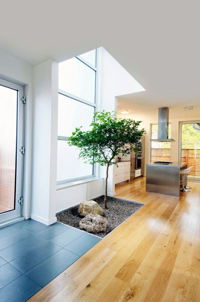 decoration japonais deco asiatique sol en bois parquette clair