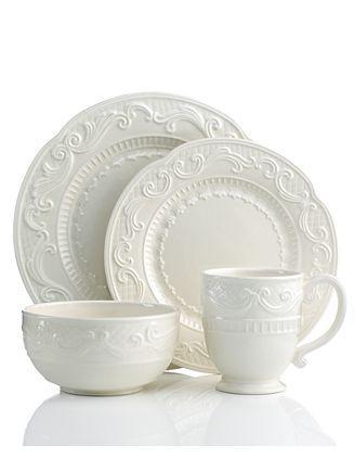 Fitz \u0026 Floyd white dinnerware  sc 1 st  Pinterest & Fitz \u0026 Floyd white dinnerware   China and Tea Sets   Pinterest ...