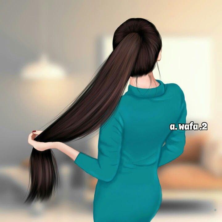 Long Hairs Beautiful Girl Drawing Long Hair Girl Girls Cartoon Art