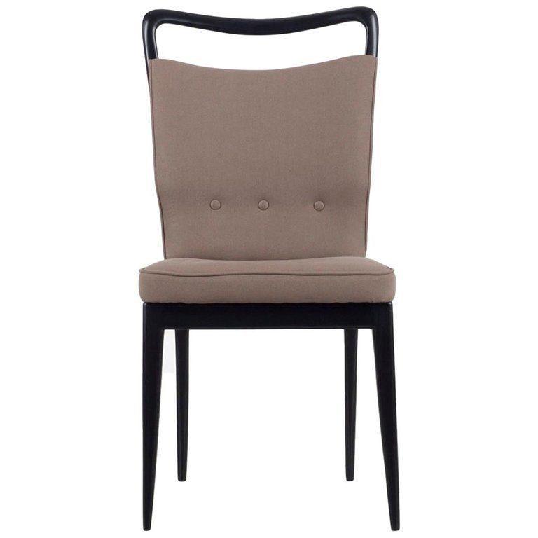 I S A Bergamo Set Of 6 Italian Brown Dining Chairs With Black