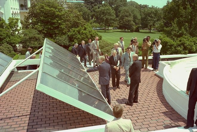 On This Day June 20 1979 President Carter Had Solar Panels Installed On The Roof Of The West Wing There Were 32 Panels Green Energy Solar Solar Solar Power