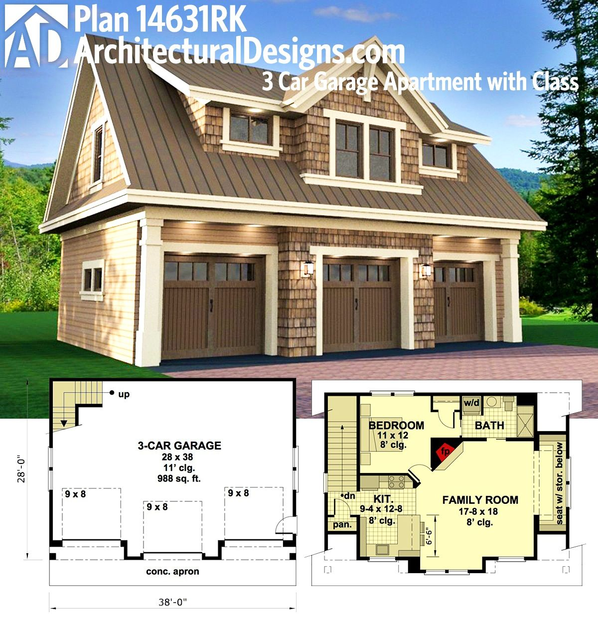 Plan 14653rk Carriage House Plan With Man Cave Potential: 「garage」おしゃれまとめの人気アイデア|Pinterest |yuji 1938