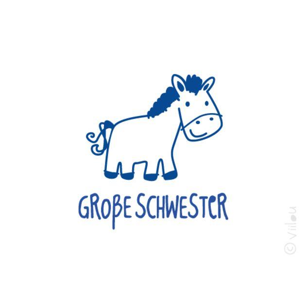 Bügelbilder - große SCHWESTER Pony Applikation Aufbügler Pferd - ein Designerstück von viilou bei DaWanda
