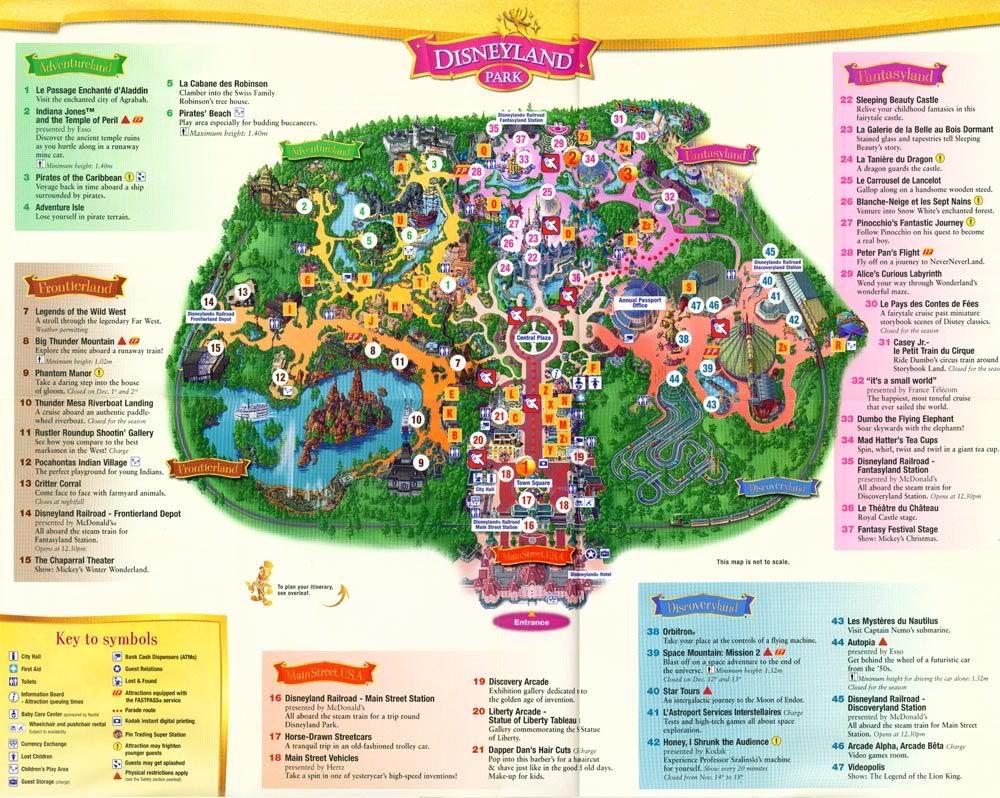 disneyland paris map in english | Disney | Pinterest | Across ...