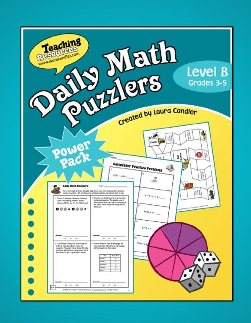 Word Problems - Daily Math Puzzlers Level B (and Webinar) | Daily ...
