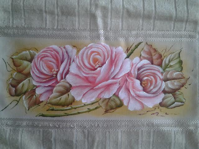 Pintura em Tecido Passo a Passo: Como pintar rosas e folhas