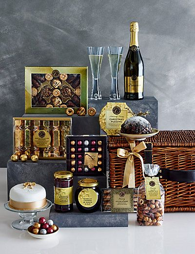 Collections Luxury Christmas Hamper M S Along The Lines Of This For Ron And Audrey Christmas Hamper Christmas Market Stall Xmas Hampers
