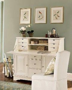 Hidden Desks hidden desk/printer storage option, pottery barn. | office spaces