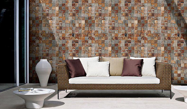 Decopanel puzle multicolor cupa panel piedra deco - Panel piedra interior ...