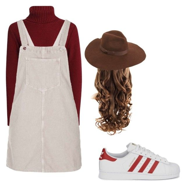 """""""Pinafore"""" by chloe-ashforth on Polyvore featuring Topshop, adidas Originals and Lack of Color"""