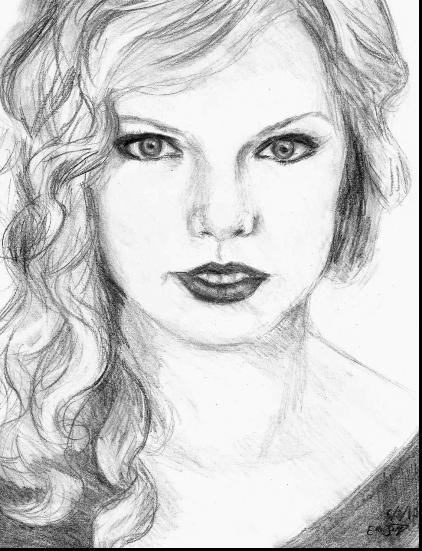 remarkable taylor swift drawing with taylor swift coloring pages and