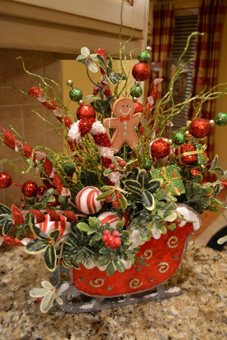 little christmas sleigh decoration christmas pinterest christmas christmas decorations and christmas centerpieces