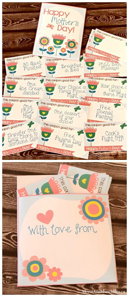 Mother\'s Day Coupons (Free Printables | Pinterest | Gutscheine ...