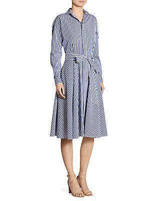 Cotton ShirtdressStyle Striped In Ralph Poplin Polo 2019 Lauren reCEBQodxW