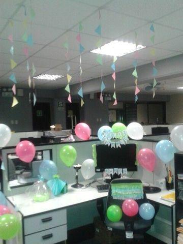 decoracion de oficina para cumpleaos de cubiculos