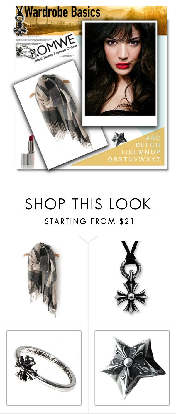 """""""romwe"""" by senida-t ❤ liked on Polyvore featuring IVI, Design Fidelity and Chrome Hearts"""