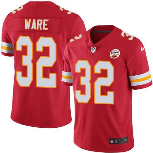 3823b31ad Nike Chiefs  32 Spencer Ware Red Team Color Men s Stitched NFL Vapor  Untouchable Limited Jersey