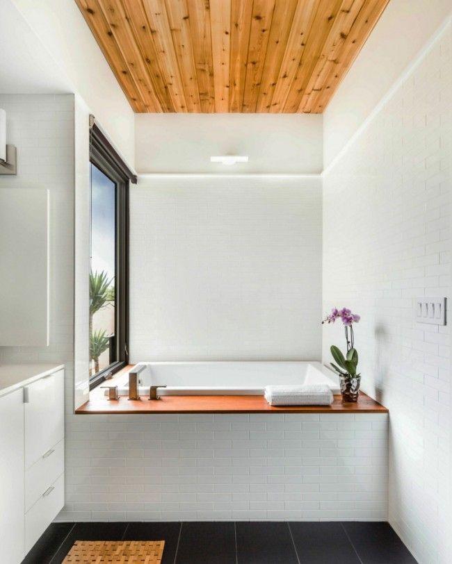 Salle de bain en bois en 30 idées inspirantes ! - faux plafond salle de bain