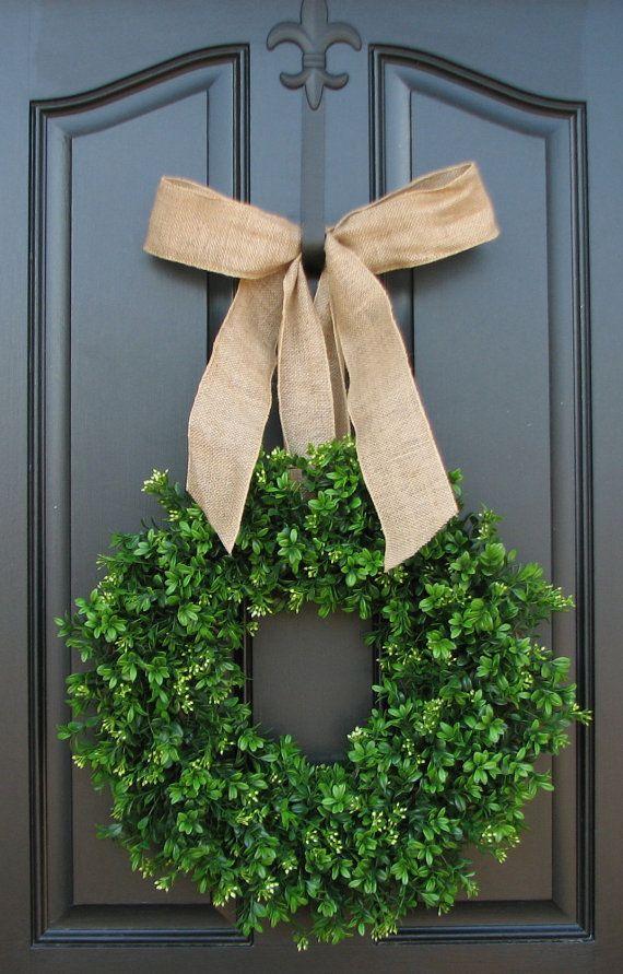 Spring Wreath Outdoor Wreath Summer Wreath Boxwood Wreath XL Wreath Wreath For The Door