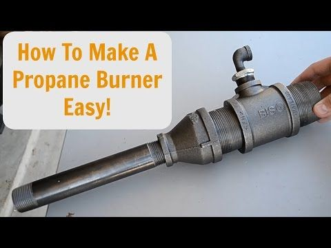 How To Make A Forced Air Propane Burner Easy Youtube Propane Forge Homemade Forge Forge Burner