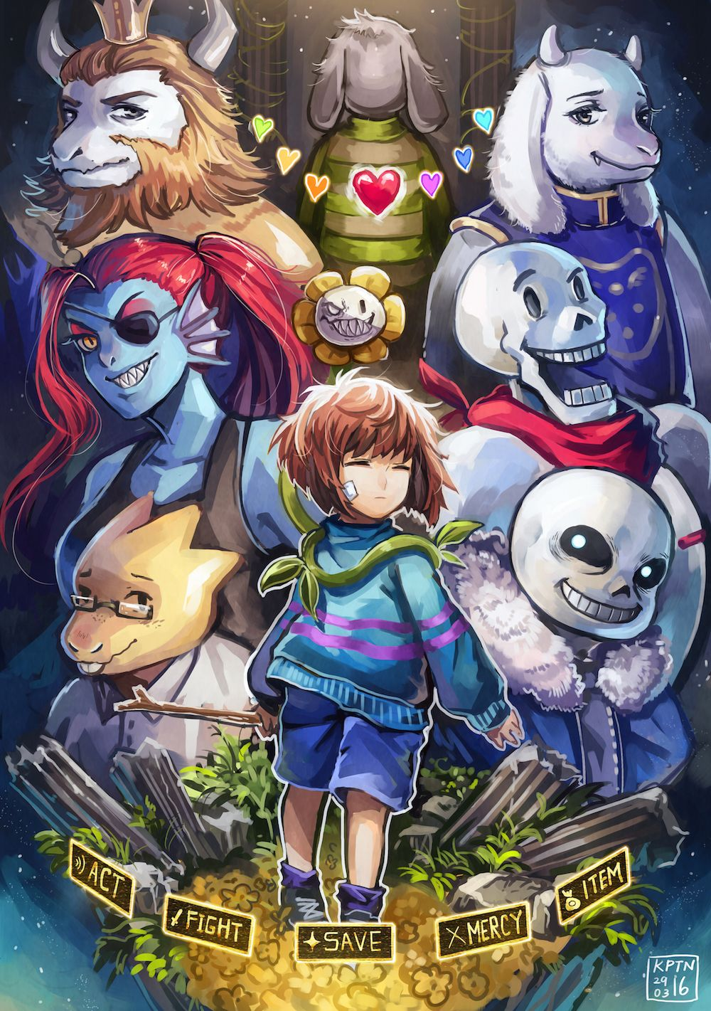 Undertale Cringe Sans And Flowery | Gardening: Flower and