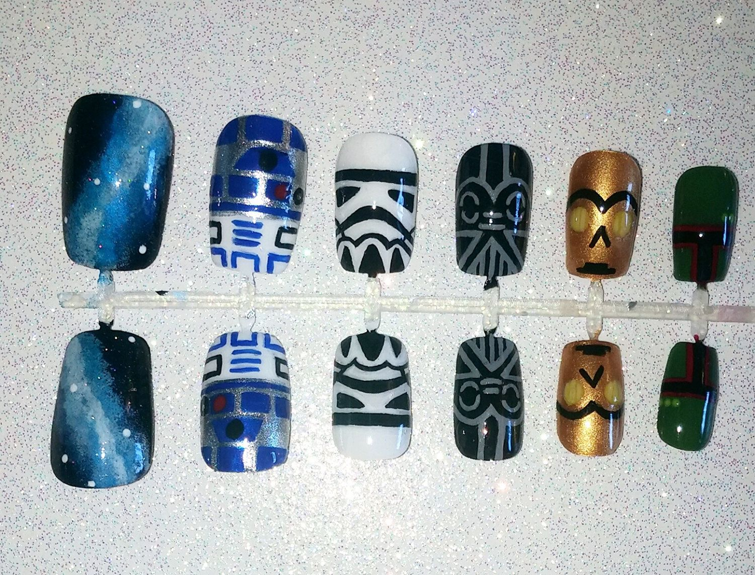 Star Wars Fake Nail Set- Press on Nails- Glue on Nails- Fake Nails ...