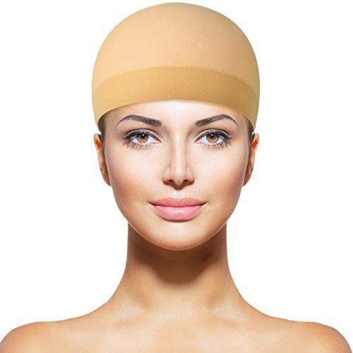 12 Pack Nylon Wig Caps For Women   Men Natural BEIGE Beauty 712971920682  eBay Wig Caps Women 3d1a8f567