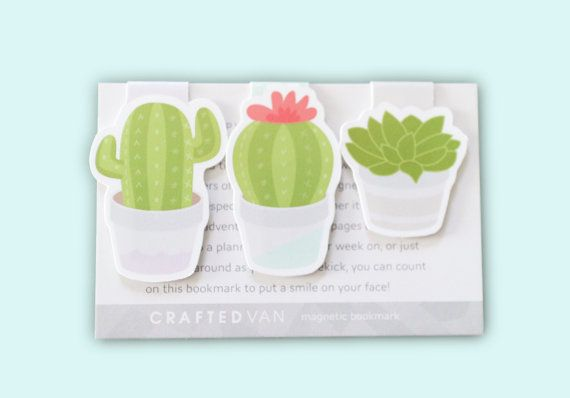 Printed and Shipped Set of 24 Labels Favor Smiling Cactus Succulent Stickers Personalized