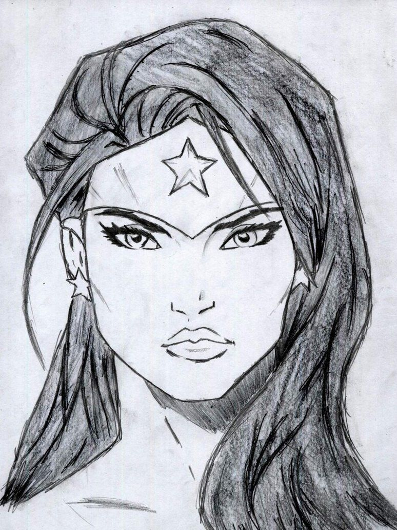 how to draw wonder woman naked