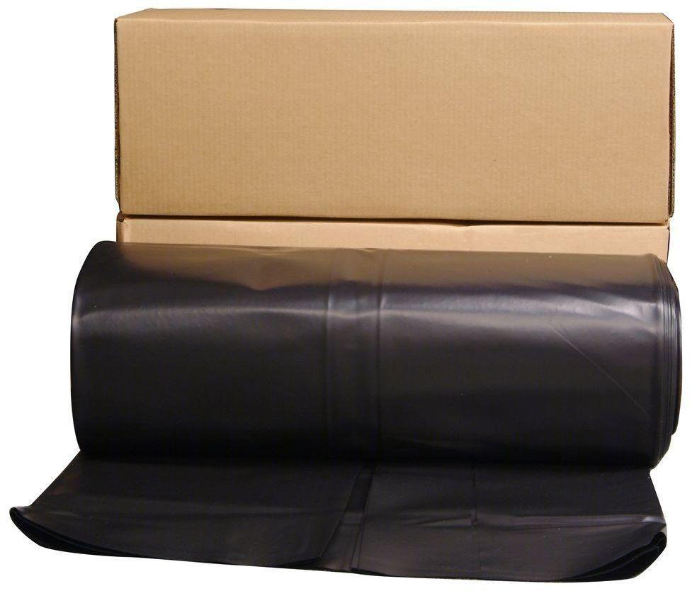 Husky 24 Ft X 100 Ft Black 6 Mil Plastic Sheeting Extra Heavy Duty Coverall Husky Black Plastic Sheeting Plastic Sheets Plastic