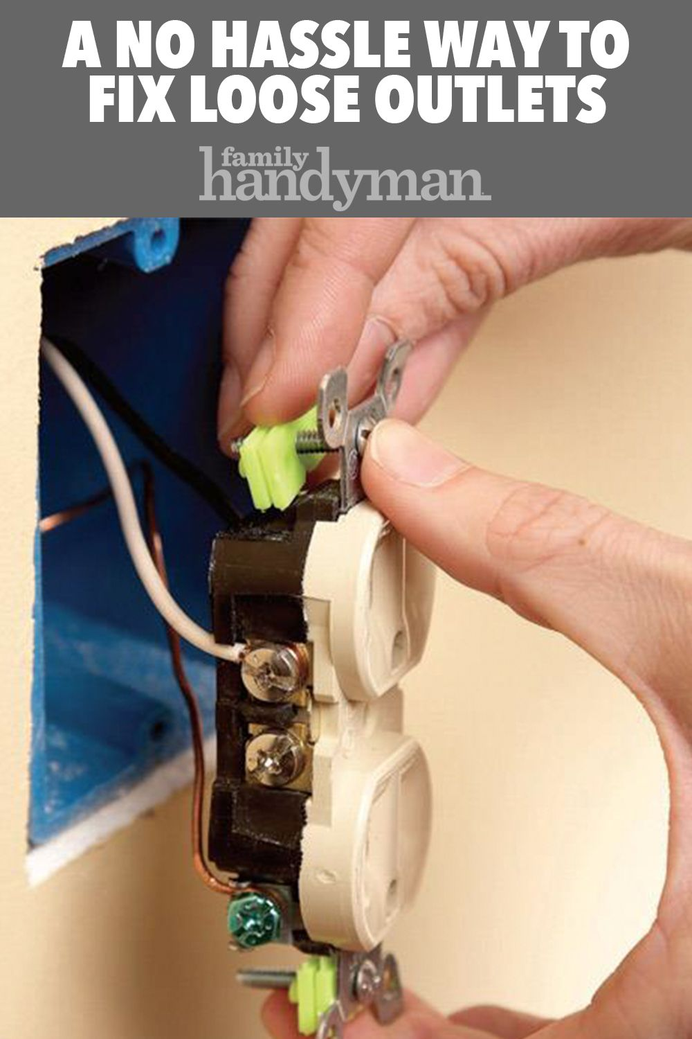 Repair Electrical Outlets Fix Loose Outlets Diy Home Repair Home Repair Electrical Outlets