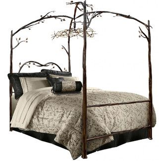 Found it at Wayfair - Stone County Ironworks Enchanted Forest Queen Canopy Bedhttp://www.wayfair.com/Stone-County-Ironworks-Enchanted-Forest-Queen-Canopy-Bed-914-349-SIW1336.html?refid=SBP