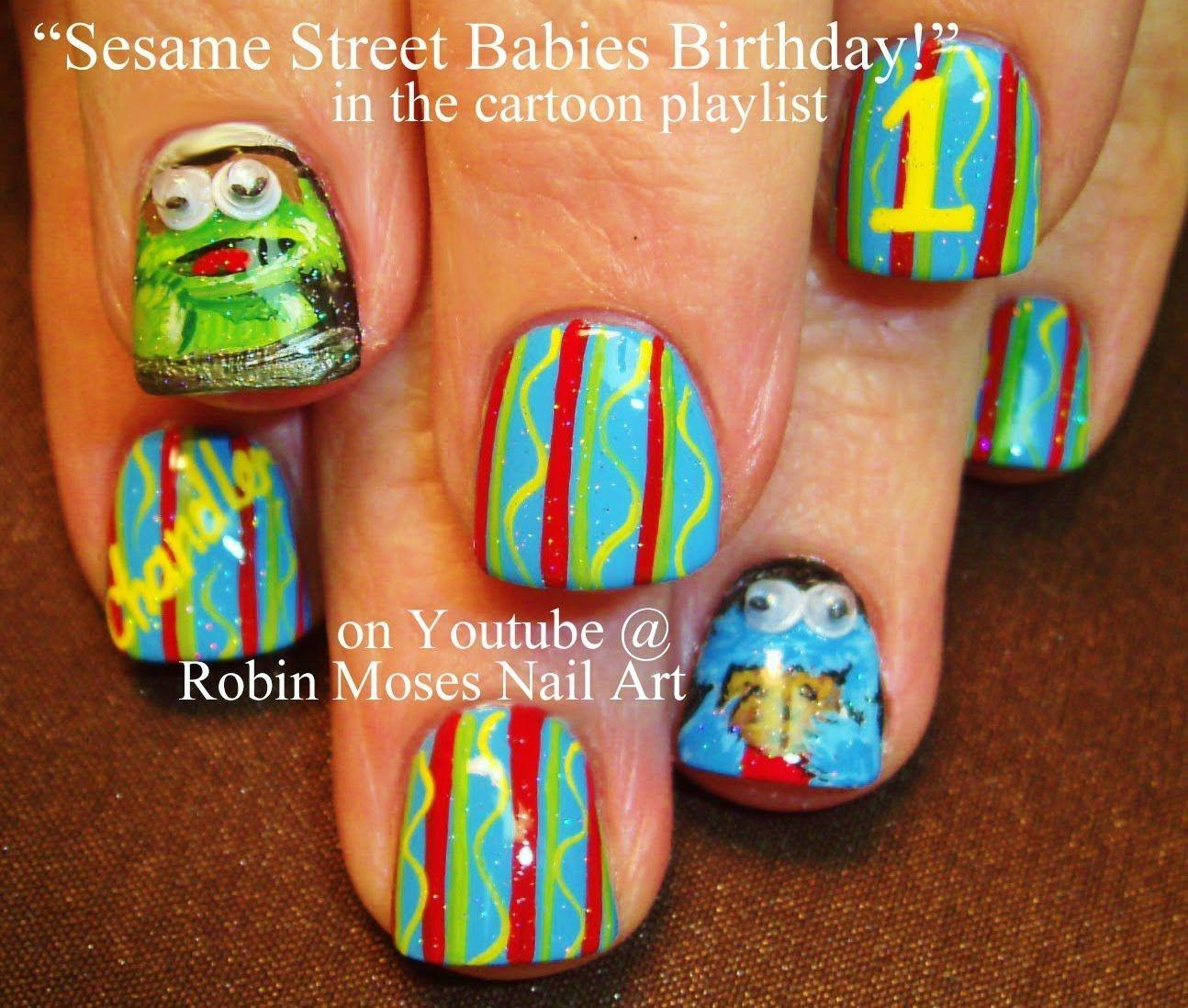 Sesame Street Nail Art Nail Art Ideas Pinterest