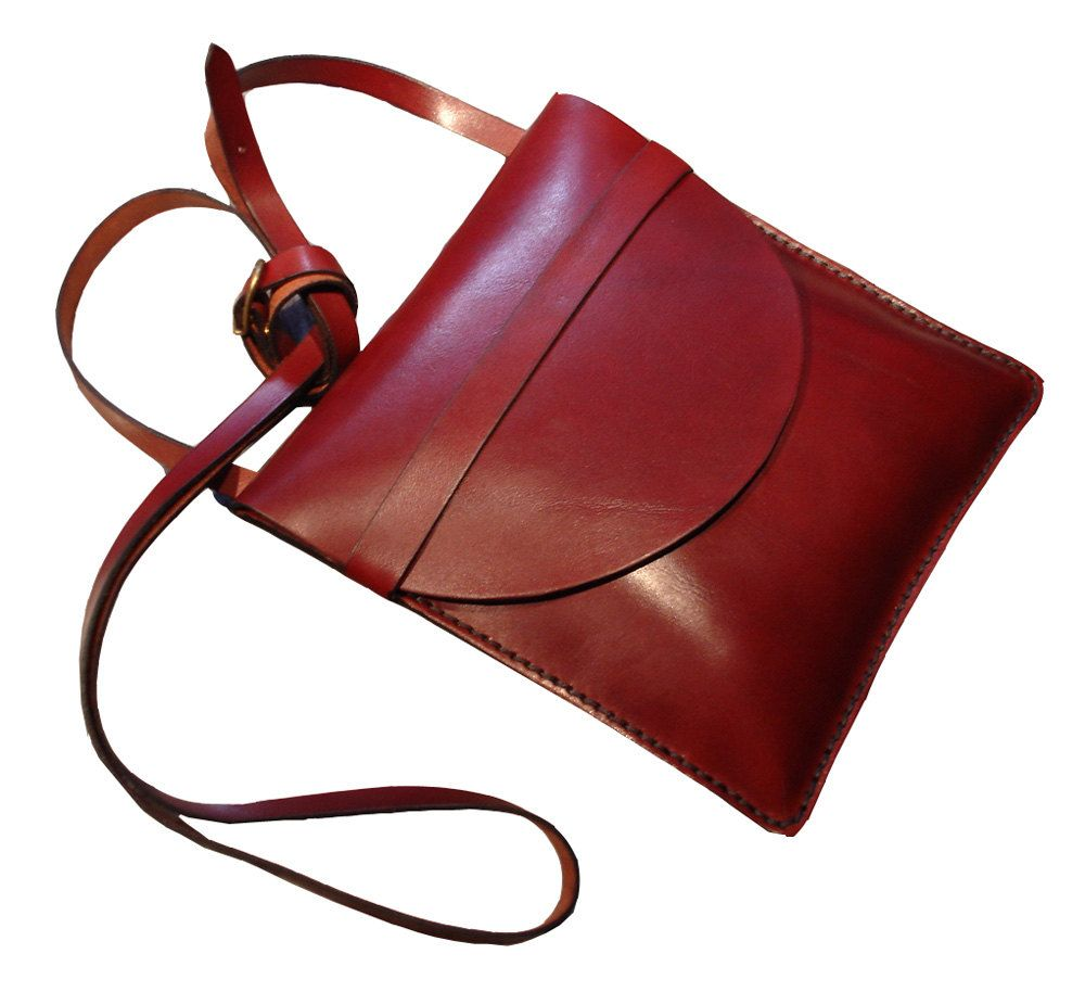 LEATHER+HANDMADE+BAG+/+Bag+/+Leather+Bag+/+Leather+by+PACOSASTRE,+$63.00