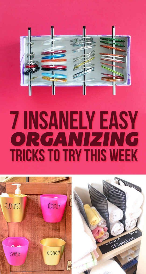 7 easy organizing tricks you ll actually want to try life hacks rh pinterest com