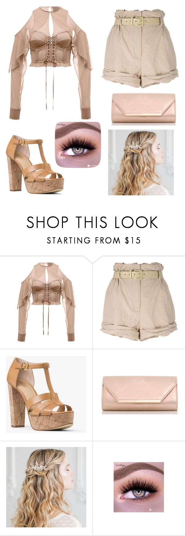 """Untitled #2"" by lfdkbchkbfg ❤ liked on Polyvore featuring Moschino, MICHAEL Michael Kors and Dorothy Perkins"