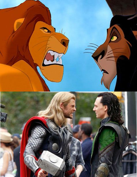 Mufasa and Scar are just like Thor and Loki!