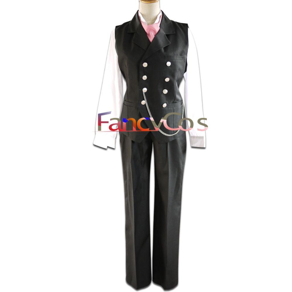 halloween men's black butler sebastian michaelis anime version cospl