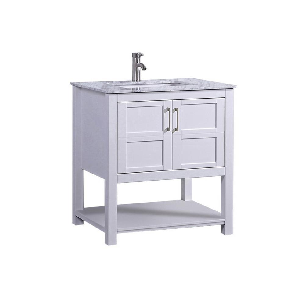 Mtd Bath Nord 30 In W X 22 In D X 40 In H Vanity In White With