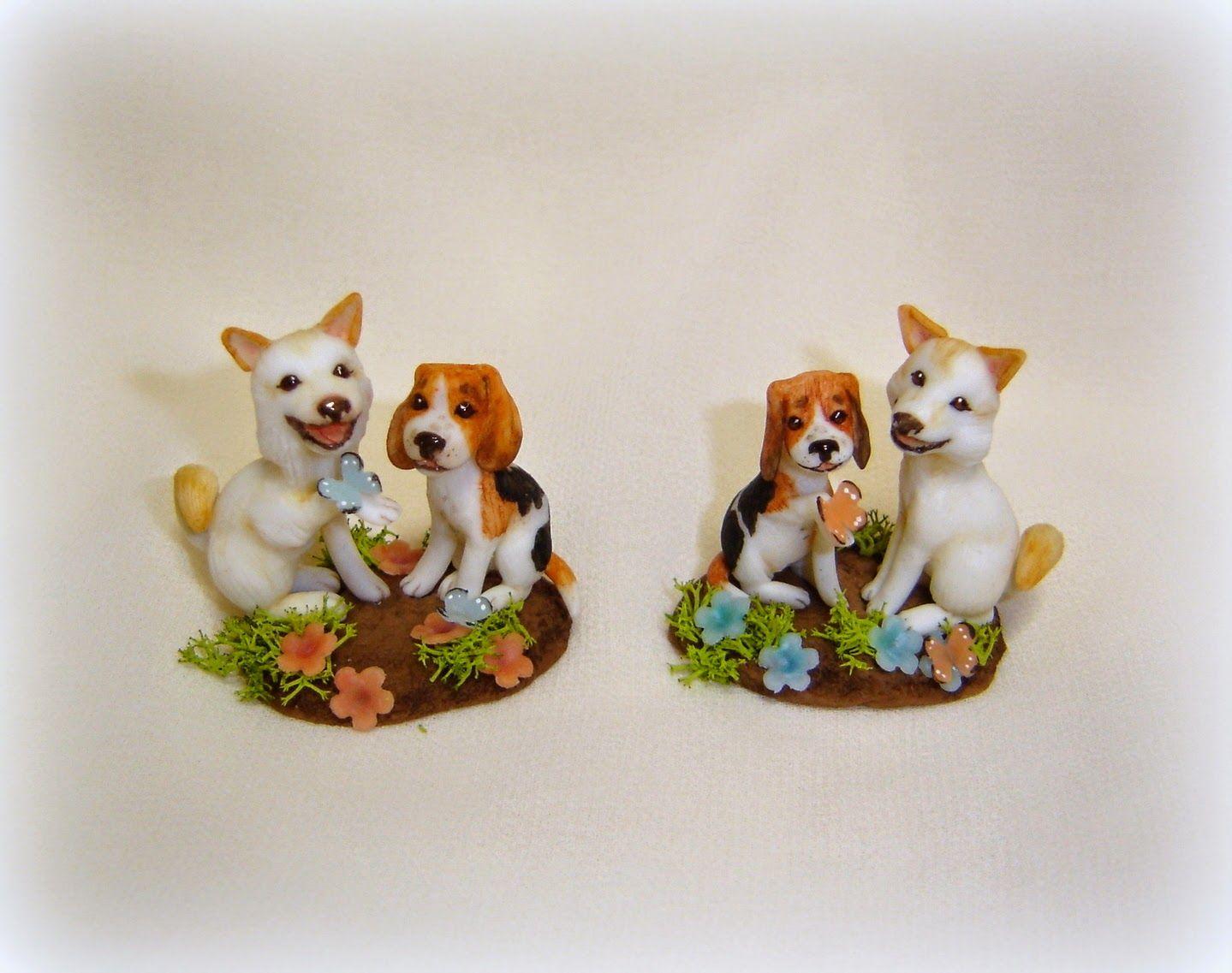 La Bottega delle Fate: Friendship - little dogs on commission