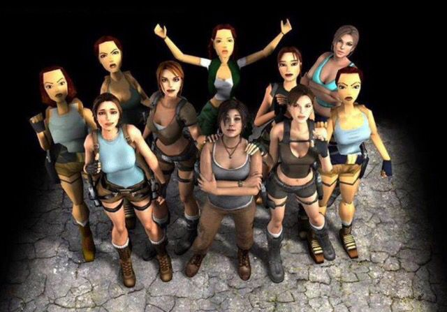 All Versions Of Lara Croft Tomb Raider Game Tomb Raider Lara Croft Tomb Raider
