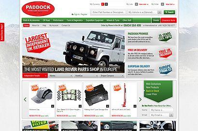 Ecommerce site Paddocks Spares   Website Design   Pinterest   Land