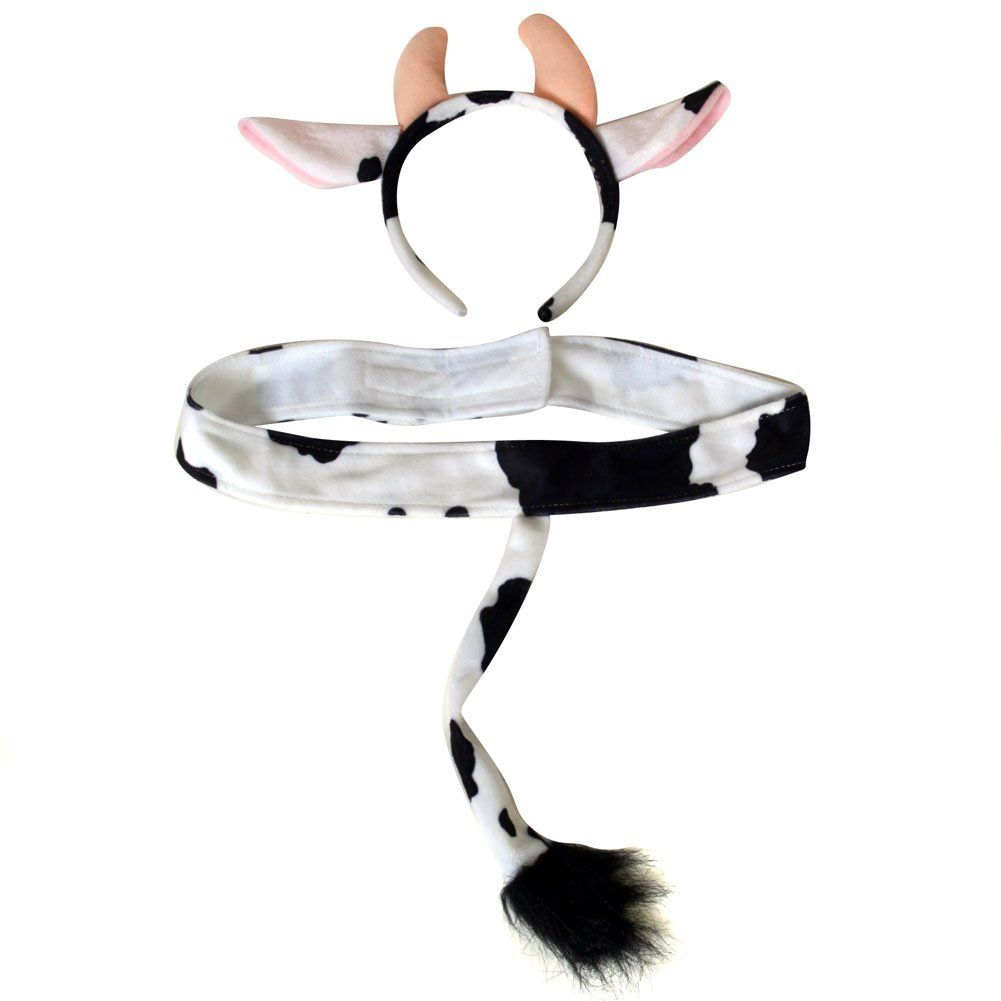 Cow Ears and Tail Costume Accessories Kit - Costumes Wigs Theater ...