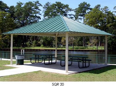 Square Hip Roof Shelter Hip Roof Outdoor Decor Outdoor Structures