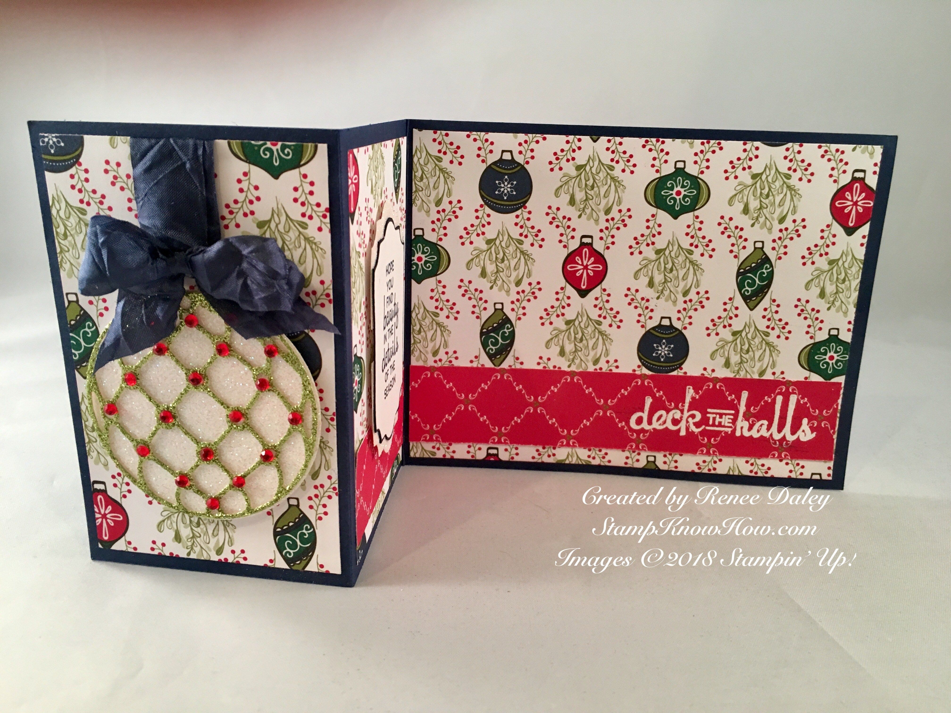beautiful baubles zfold christmas card  learn techniques