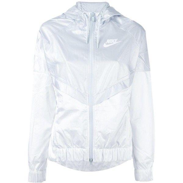 Nike colour block windbreaker jacket ( 74) ❤ liked on Polyvore featuring  activewear, activewear jackets, white, nike, logo sportswear, nike  sportswear and ... 61d6f38ef435
